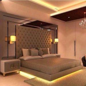 luxury bedroom lighting