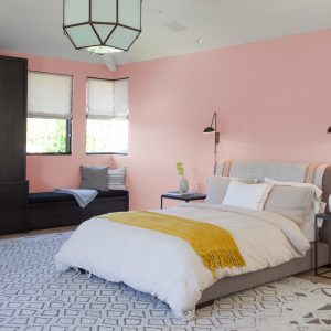 light pink color combination for wall